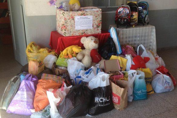 Estudantes de CEIM do Canivete em Linhares arrecadam doações para crianças atendidas em orfanato