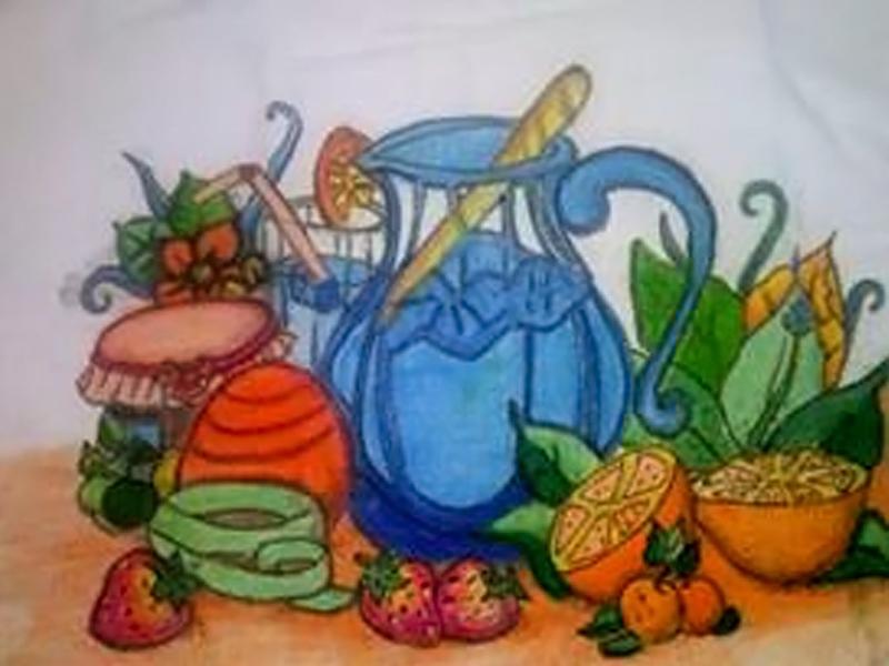 CEEJA de Linhares oferece oficina de pintura em pano de prato