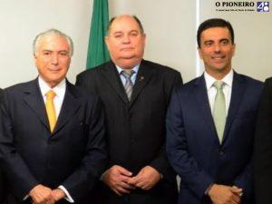 Presidente Temer, Paulinho da Panan e Leonardo Castro