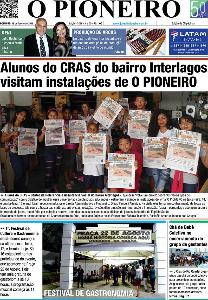 ae7637f0d Edição do Jornal O PIONEIRO 19 de agosto de 2018